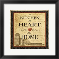 Framed Kitchen Heart Vignette