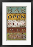 Framed License Plates - Bar