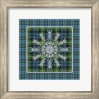 Framed Plaid Snowflakes