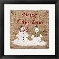 Framed Christmas on Burlap- Merry Christmas 3