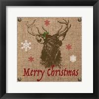 Framed Christmas on Burlap - Merry Christmas 2