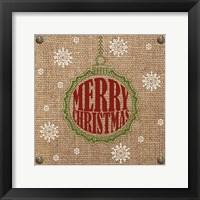 Framed Christmas on Burlap - Merry Christmas 1
