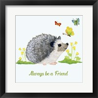 Framed Forest Friends - Hedgehog