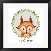 Be Clever Fox Framed Print