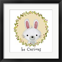 Framed Be Curious Rabbit