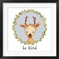 Framed Be Kind Deer
