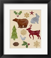 Framed Scandinavian Animal Elements