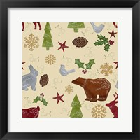 Framed Scandinavian Animals Repeat