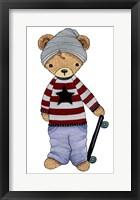 Framed Skater Bear