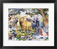 Framed Safari Wildlife