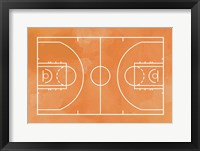 Framed Basketball Court Orange Paint Background