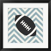 Framed Eat Sleep Play Football - Blue Part I