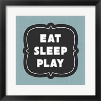 Framed Eat Sleep Play Football - Blue Part II