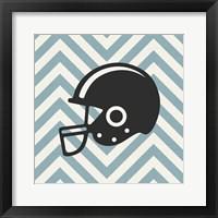 Framed Eat Sleep Play Football - Blue Part III