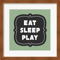 Framed Eat Sleep Play Football - Green Part II