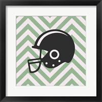 Framed Eat Sleep Play Football - Green Part III