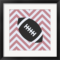 Framed Eat Sleep Play Football - Pink Part I
