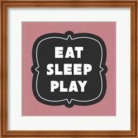 Framed Eat Sleep Play Football - Pink Part II