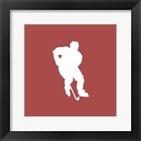 Framed Hockey Player Silhouette - Part I