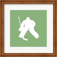 Framed Hockey Player Silhouette - Part II