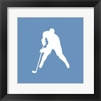 Framed Hockey Player Silhouette - Part III