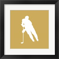 Framed Hockey Player Silhouette - Part IV