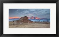 Framed Mormon Row Sunrise 2