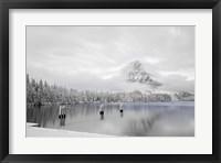 Framed Rising Sun Winter Blues