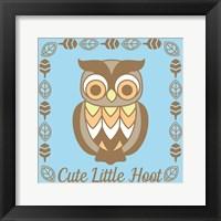 Framed Cute Little Hoot Boy