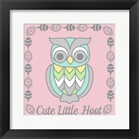 Framed Cute Little Hoot Girl
