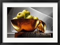 Framed Apple In A Gold Bowl