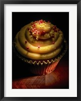 Framed Cupcake With Sprinkles