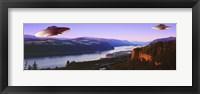 Framed Flying Saucers In The Oregon Gorge