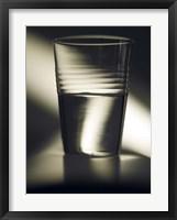 Framed Optimism Half Full Glass