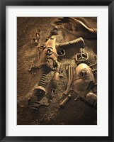 Framed Rayguns On Mars
