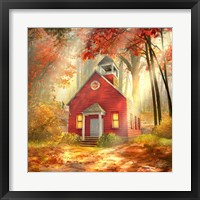 Framed Little Red Schoolhouse