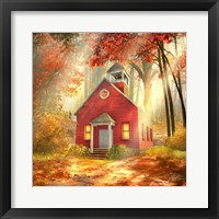 Framed Little Red Schoolhouse