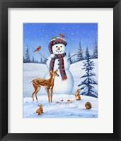 Framed Snowman I