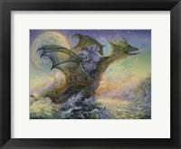Framed Dragon Ship