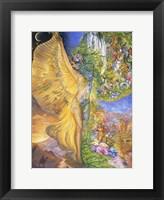 Framed Goddess Between Realms