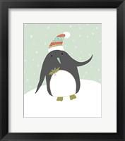 Framed Cozy Penguin