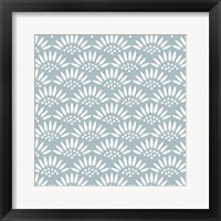 Framed Geo Petal Blue