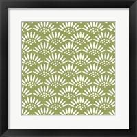 Framed Geo Petal Green