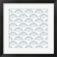 Framed Geo Petal White-Blue