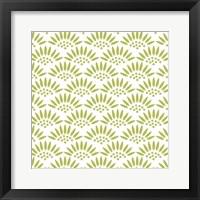 Framed Geo Petal White-Green