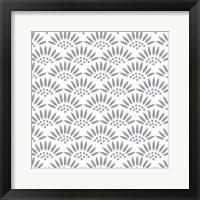 Framed Geo Petal White-Grey