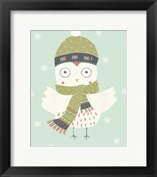 Framed Holiday Owl