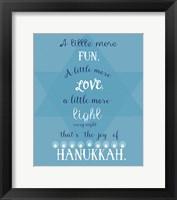 Framed Joy Of Hanukkah