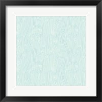 Framed Woodgrain  Blue