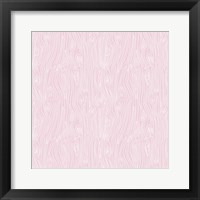 Framed Woodgrain Pink